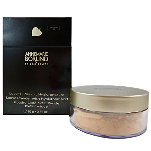 Annemarie Börlind Loose Powder with Hyaluronic Acid Nr. 03 natural, 1er Pack (1 x 10 g)