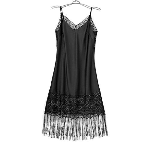 FrauenSchlafRock Sexy Sleepwear Bequeme HalterKleidSpitze dünnes ...