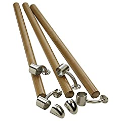 Richard Burbidge KIT02 Fusion Boxed Handrail Kit - White Oak/Brushed Nickel