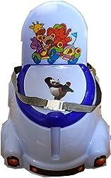 Abasr Panda Creation Moto Potty Seat (Blue & White)