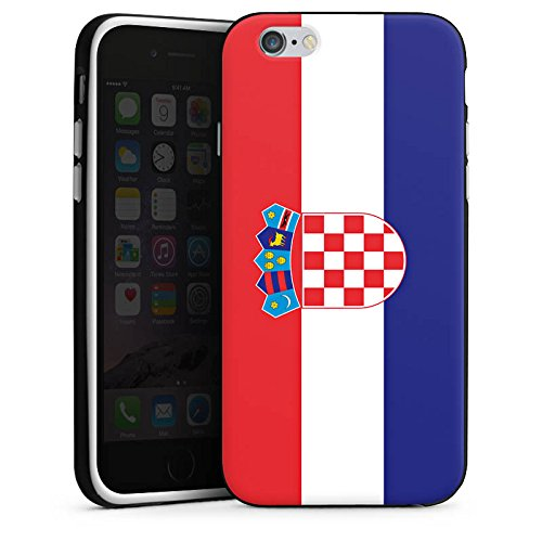 Apple iPhone X Silikon Hülle Case Schutzhülle Kroatien Flagge Fußball Silikon Case schwarz / weiß