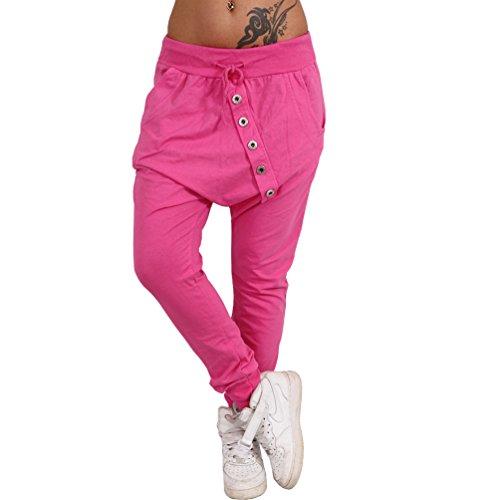 Damen Hose schwarz mit Gürtel Onesize 36-40 mit Taschen vorn und hinten