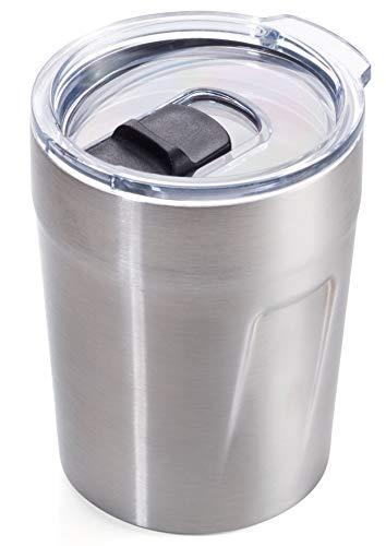 TROIKA Original ESPRESSO DOPPIO - CUP65/ST - Thermo-Becher (Espresso, Kaffee, Tee) - Isolierbecher, Travel Mug - Fassung: 160 ml (5,4 oz) - Kunststoffdeckel (Verschlussschieber, schwappsicher)