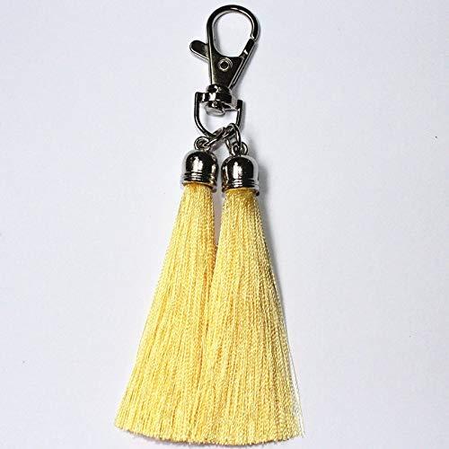 YUESHAO Quaste Schlüsselanhänger Double Rayon Quaste Schlüsselanhänger Schlüsselanhänger Frauen Tasche Charmant Anhänger Autoschlüssel -