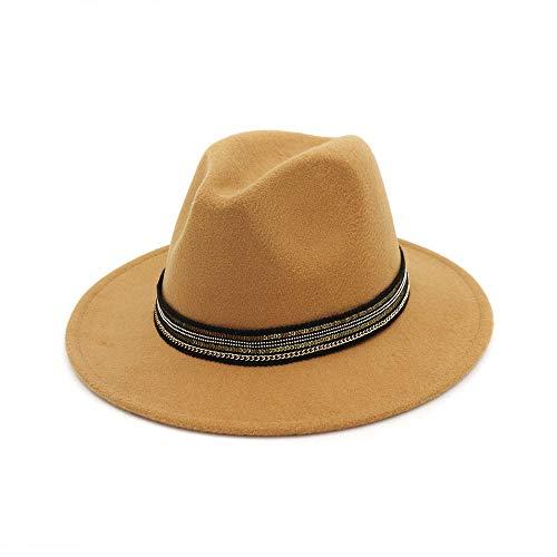 Kostüm Klassisches Mafia - youjiu Hut, Hut, klassischer Jazzhut, Art und Weise beiläufiger Art @ Camel_One Größencode 56-58cm