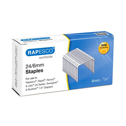 Rapesco S24602Z3 Staples - 24/6m...