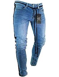 QK-Lannister Pantaloni Casual da Uomo Pantaloni da Motociclista Ragazzo  Slim Regolari Pantaloni Stretch Pantaloni da Denim Vintage… a4bc6507a7c9