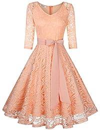 b85c10510673 Suchergebnis auf Amazon.de für: Langarm Spitzenkleid - Damen: Bekleidung