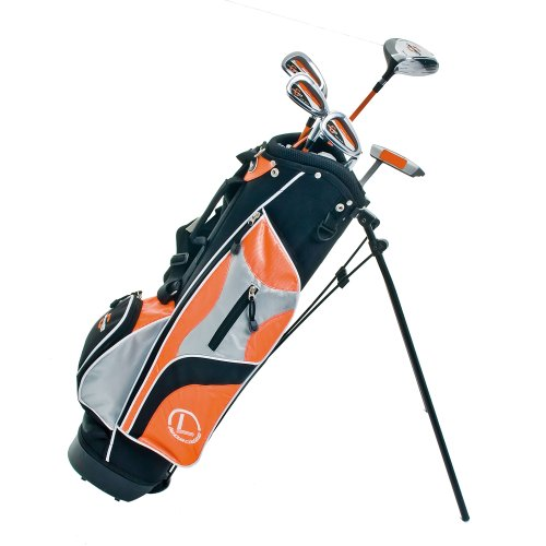 LONGRIDGE Kinder GOLFSCHLÄGER JUNIOR CHALLENGER SET KINDER 5 SCHLÄGER ALTER 8+, ORANGE/SCHWARZ, RH Test