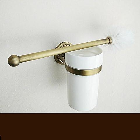 SBWYLT-Europeo antiguo High-End sostenedor de cepillo del tocador baño de bronce sostenedor de cepillo del tocador alambre de