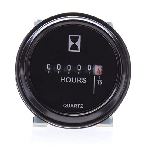 Round Hour Meter pour cart Boat Tractor Generator Engine Mower 10-80V