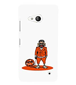 EPICCASE Pumpkin guy Mobile Back Case Cover For Microsoft Lumia 550 (Designer Case)