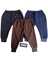Littly Baby Thermal Leggings/Pajamis, Pack of 3(Blue, Brown, Grey)