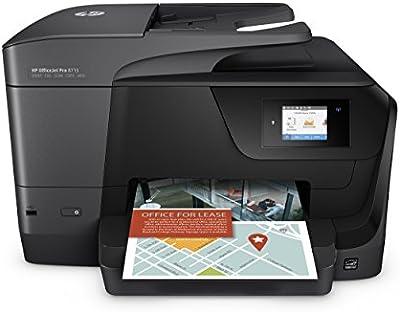 HP OfficeJet Pro 8715 AiO Inyección de tinta térmica A4 Wifi Negro - Impresora multifunción (Inyección de tinta térmica, Color, Color, Color, Color, Imprimir)