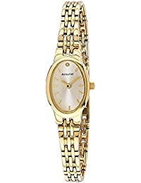 8c1d1f4ae Accurist Women's Quartz Watch with Silver Dial Analogue Display and Gold  Stainless Steel Bracelet Lb1336G