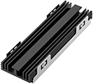 NVMe Heatsinks for M.2 SSD Tool Free Compatible with Playstation 5, TREBLEET Two-Slot M.2 NVMe SSD Enclosure
