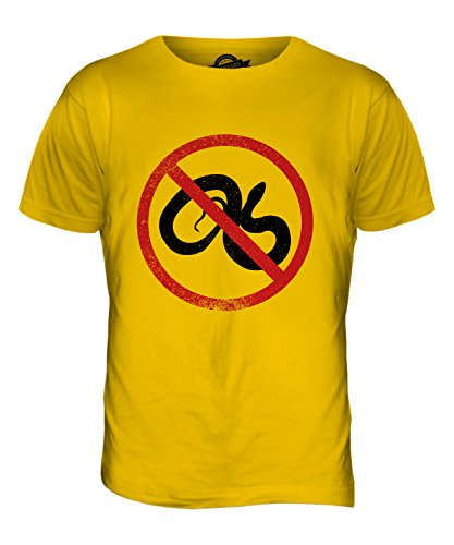 CandyMix Orphidiophobie Herren T Shirt Dunkelgelb