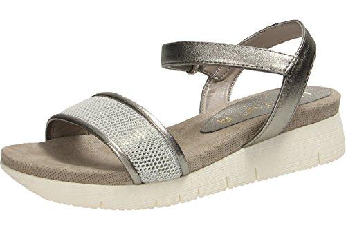 Unisa Damen Bazar_lmt Offene Sandalen mit Keilabsatz Steel
