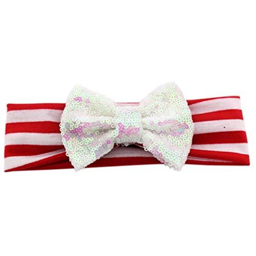 ndependence Day Kinder Sequin Haar Tragen Mit Großen Bogen American Flag-Haar-Band ()