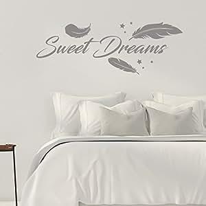 Sweet Dreams - Federn - Schlafzimmer - 55 cm x 160 cm - Wandtattoo ...