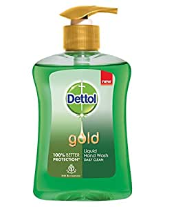 Dettol Gold Liquid Daily Clean Hand Wash - 250 ml with Dettol - 75 g Soap Free