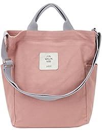 Gindoly Casual Handtasche Damen Canvas Chic Schultertasche Große umhängetasche Tasche