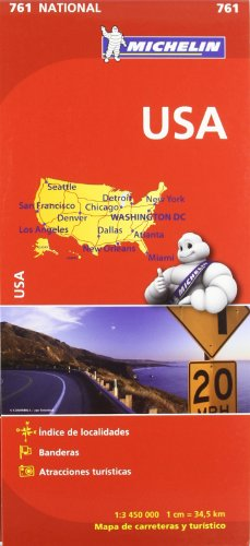 Mapa National U.S.A. (Mapas National Michelin) por Vv.Aa