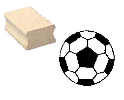 Stempel Holzstempel Motivstempel « FUSSBALL » Scrapbooking - Embossing Fußball Ballsport Tor Sport