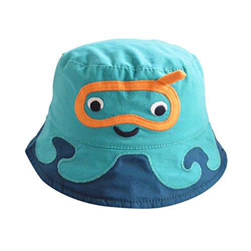 Happy Cherry - Sombrero Infantil con Ala Gorra de Pescador Hat de Algodon  para Niño Bebé d746dfb1074