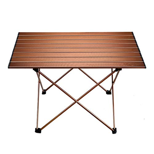 SQYY Outdoor Klapptisch Outdoor Ultraleichten Tragbaren Klapptisch Multifunktions Klapptisch Grill Picknick Zu Hause Esstisch Erweiterung Größe: 68,5 * 45,5 * 40,5 cm Produktfarbe: Braun -