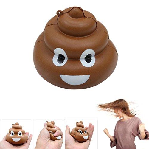 Oyedens Emoji Poo Squishy Slow Rising Fun Toy Relieve Stress Kid Adult Joke Toy