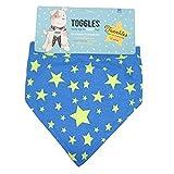 Phileas Dogg Toggles Twinkles Hunde Halstuch (Medium/Large) (Starry Night Blau)