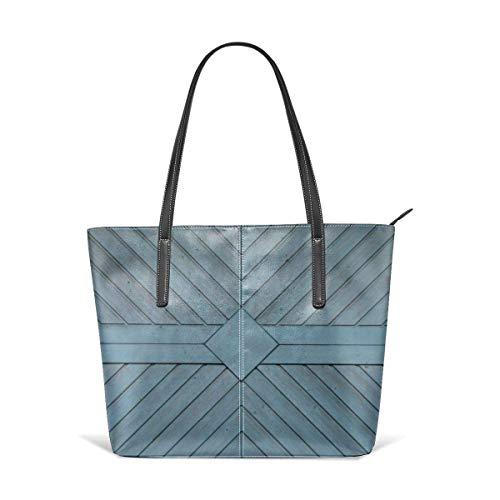 XGBags Custom Frauen Umhängetaschen Garage-door-texture-wooden-wall-panels Leather Zipper Tote, Ladies Shoulder Bag, Shoulder Bag -