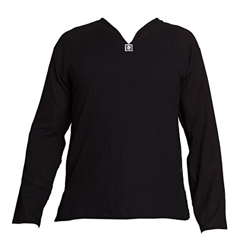 PANASIAM Shirt, K', NoButton, Black, L, longsl. -