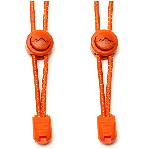 gipfelsport Elastische Schnürsenkel - Gummi Schnellschnürsystem ohne Binden | für Kinder, Herren, Damen I 1x Paar: orange - Kinder Graue Für Turnschuhe