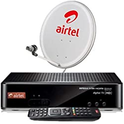 AIRTEL HD SET TOP BOX WITH RECORDING AND MY FAMILY PACK