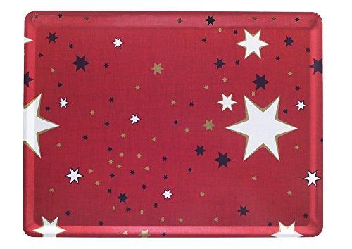 Platex 104030229S Plateau Moyen Modèle Décor Milky Stratifié Rouge 40 x 30 x 0,5 cm