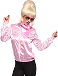 Grease Damen Herren FANCY DRESS Pink Ladies oder T Birds Jacke Jacket Sandy Fasching Karneval Halloween Kostuem