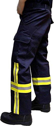 Feuerwehr-Einsatzhose mit HuPF4-Bestreifung aus Baumwolle, fireresistant