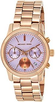 ساعة كوارتز للنساء من مايكل كورس، عرض انالوج مع حزام من الستانلس ستيل موديل MK6163