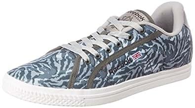 Reebok Classics Men's Court Grey Camo and White Sneakers - 6 UK/India (39 EU)(8.5 US)