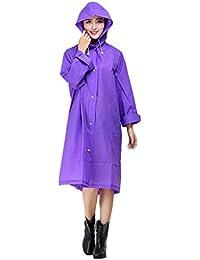 Poncho de Pluie Raincoat Elégant Mode Veste/Vêtement/Cape de Pluie à Capuche EVA Environnement Longue Manteau Imperméable Epaissir Imper pour Adulte