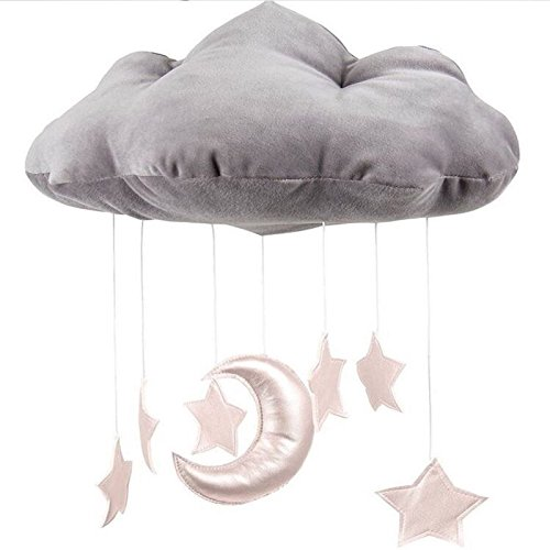 TOOGOO Baby Set Mobile haengende Wolke Dekoration Mond und Sterne Anhaenger