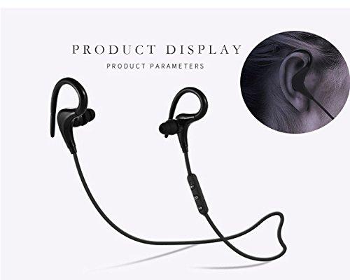 Bluetooth Kopfhörer, Drahtlose Sport-kopfhörer Wasserdichte 4.1HD Stereo Sweatproof In Ohr ohrhörer für Gym Workout 4 Stunden Batterie Noise Cancelling Headsets (Schwarz)