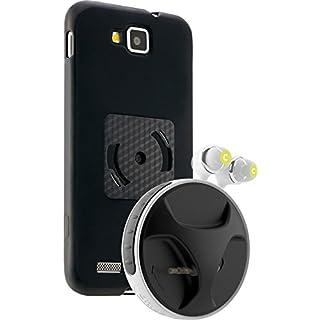 athos-c SmartWind-Bumper Duo für Samsung Ativ S - Hochwertiger, abnehmbarer Kabelaufroller für Kopfhörer mit separater Schutzhülle