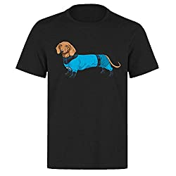 Strech Fantastic Four Sausage Dog T-Shirt - Multiple Colours Available