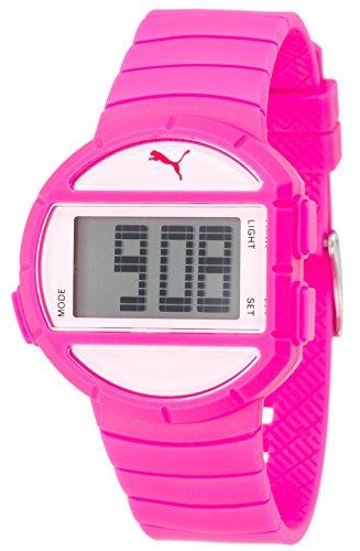 Puma Time Ladies Watch Half Time S PU910892007 Digital Display and Pink Plastic
