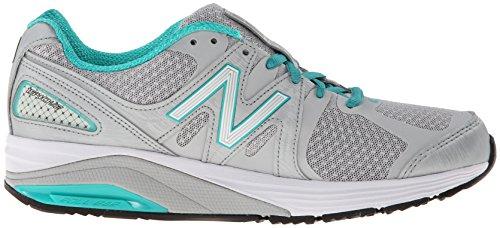 New Balance Women's W1540V2 Optimum Control Running Shoe, White/Blue, 10 4E US Silver/Mint Green