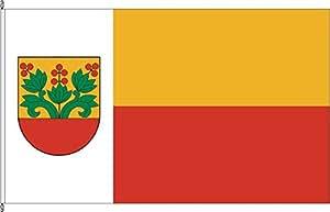 Königsbanner Tischfähnchen Bentfeld (Variante) - Tischflaggenständer aus Holz