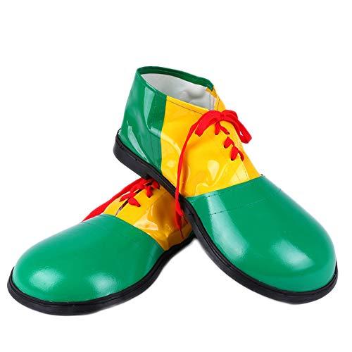 Schuhe Clown Kostüm - XINXIN Grünes Clown-Kostüm Mit Halloween-Leder-Clown-Schuhen